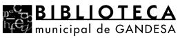 Biblioteca Municipal de Gandesa Logo